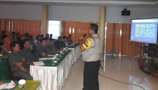 Kapolres Simalungun Sosialisasi Perundang-undangan Pilgubsu 2018