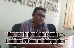 Rapat Pleno KPU Putuskan JR Saragih-Ance Tetap TMS