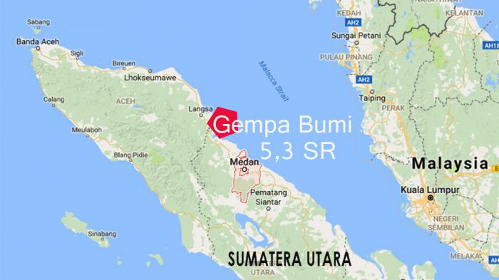 Gempa Bumi 5,3 SR Barusan Terjadi di Langsa, Aceh