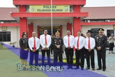 Kapolres Belawan Beri Penghargaan Polisi Berprestasi Tepat di Hari Kesaktian Pancasila